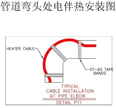 電伴熱帶典型安裝示意圖